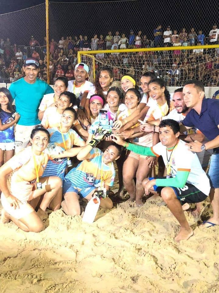 Adriele Rocha faz quatro e Tutóia é Campeã do Maranhense de Beach Soccer Feminino