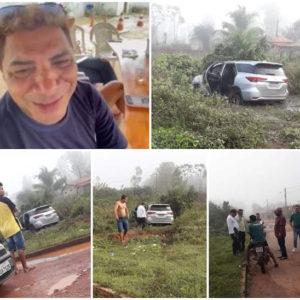 Após ter casa invadida por bandidos, cantor milionário sofre acidente em Pinheiro